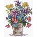 Букет вдохновения, набор для вышивания 17х21см 25цветов Жар-птица