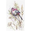 Первый снег, набор для вышивания 20х30см 19цветов Жар-птица