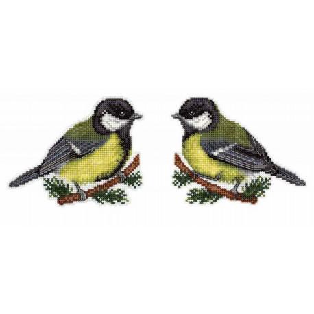 Предвестница весны, набор для вышивания крестиком на пластиковой канве 10х13см 14цветов Жар-птица