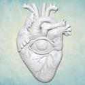 Сердце с оком (M) 5х7см, молд силиконовый универсальный АП