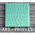 Печатная машинка латиница р-р символов 10мм, молд силиконовый универсальный АП
