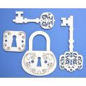 Ключи с замком, чипборд 5,8х7,5см АП