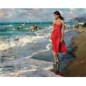 В алом по берегу, картина по номерам на холсте 40х50см 28цв Original