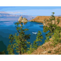 Берег Байкала, картина по номерам на холсте 40х50см 27цв Original