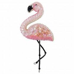 Фламинго, набор для изготовления броши из бусин и бисера, 6х12см Брошь ЧМ