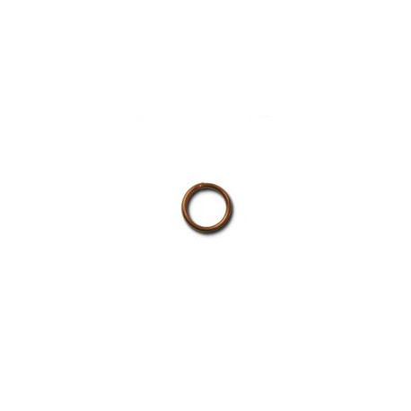 Под медь, кольцо двойное для бус 7мм 50 шт, железо Zlatka