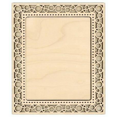 Круги, рамка ажурная малая прямоугольная 16х19/10х13см фанера 4мм