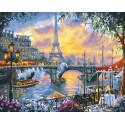 Чаепитие в Париже, картина по номерам на холсте 40х50см 29цв Original