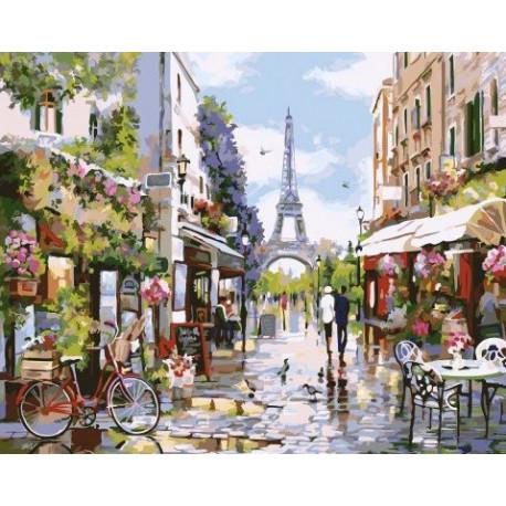 Яркая парижская весна, картина по номерам на холсте 40х50см 29цв Original