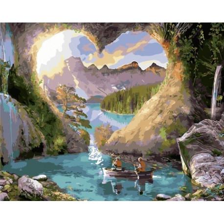Романтичные скалы, картина по номерам на холсте 40х50см 29цв Original