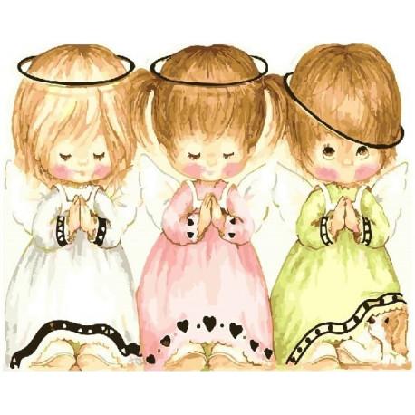 Три ангелочка, картина по номерам на холсте 40х50см 24цв Original