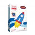 Ракета, набор для шитья игрушки из фетра (пластиковая игла и перфорация на фетре)