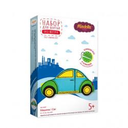 Машина, набор для шитья игрушки из фетра (пластиковая игла и перфорация на фетре)