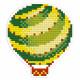 Воздушный шар, кристальная мозаика магнит 8x9см, полное заполнение Фрея