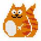 Котик, кристальная мозаика магнит 6,5х7см, полное заполнение Фрея