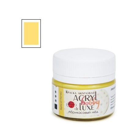 Абрикосовый мед, краска Акрил-Хобби Де Люкс 20мл Таир