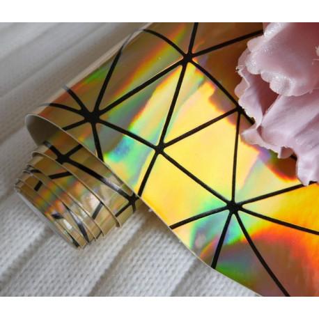 Золотой геометрия, кожа искусственная 33х69(±1см) толщина 0,5мм