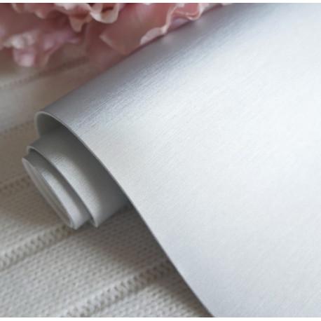 Серебро матовый шелк, кожа искусственная 33х69(±1см) толщина 1мм
