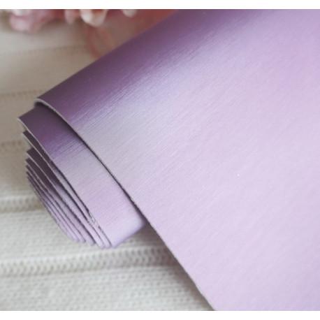 Фиолетовый матовый шелк, кожа искусственная 33х69(±1см) толщина 1мм