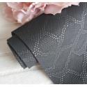 Черный чешуя, кожзам Soft touch для скрапбукинга 33х70(±1см) толщина 0,8-1мм