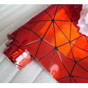Красный геометрия, кожа искусственная 33х69(±1см) толщина 0,5мм