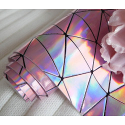 Розовый геометрия, кожа искусственная 33х69(±1см) толщина 0,5мм