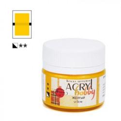 Желтый, краска Акрил-Хобби 20мл Таир +t!