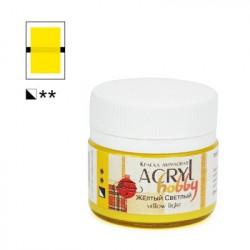 Желтый светлый, краска Акрил-Хобби 20мл Таир +t!