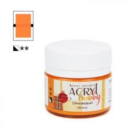 Оранжевый, краска Акрил-Хобби 20мл Таир +t!