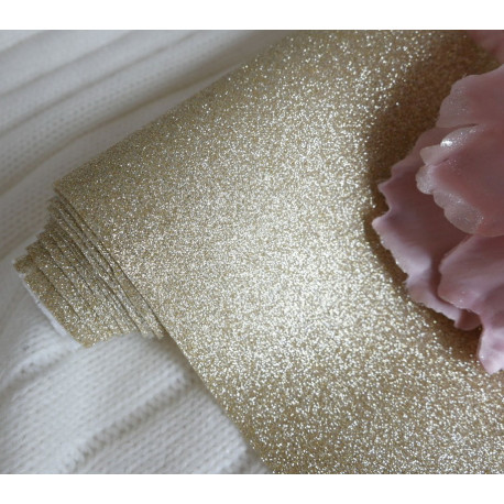 Золото, глиттерная ткань для творчества 33х70(±1см)