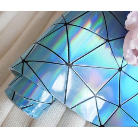 Северное сияние геометрия, кожа искусственная 33х69(±1см) толщина 0,5мм