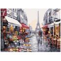 Свидание в Париже, картина по номерам на холсте 30х40см 20цв Original