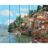 Городок у моря, раскраска по номерам на дереве 40х50см 29цв Планета Картин