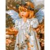Девочка-ангелочек, раскраска по номерам на холсте 40х50см 27цв Планета Картин