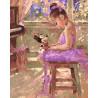 Прекрасная балерина, раскраска по номерам на холсте 40х50см 29цв Планета Картин