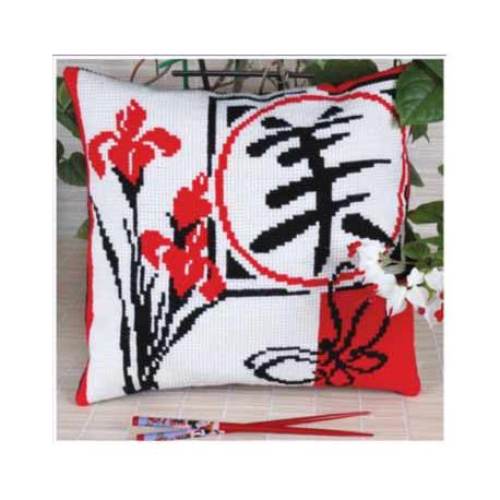 Красота(подушка), набор для вышивания крестиком, 36х36см, 3цвета Panna