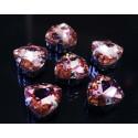 Персиковый, стразы стеклянные в серебряных цапах 12мм 3шт Астра