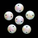 Белый круглые, стразы акриловые пришивные 10мм 15шт Астра