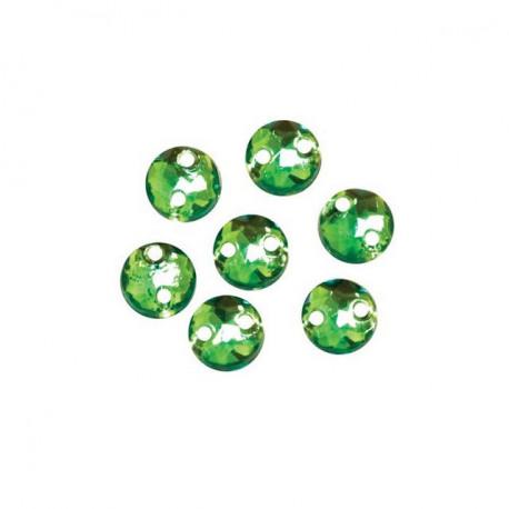 Зеленый круглые, стразы акриловые пришивные 6,5мм 25шт Астра