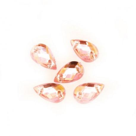 Светло розовый, стразы акриловые пришивные 6х10мм 18шт Астра