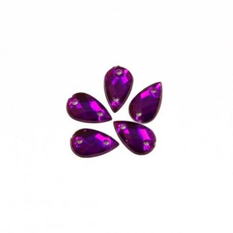 Пурпур капля, стразы акриловые пришивные 6х10мм 18шт Астра