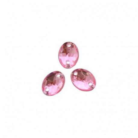Светло розовый овальные, стразы акриловые пришивные 6х8мм 20шт Астра