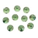 Зеленый круглые, стразы стеклянные пришивные 10мм 10шт Астра