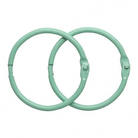 Мятный, кольца для альбома 35мм, 2шт