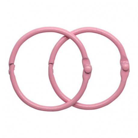 Розовый, кольца для альбома 35мм, 2шт