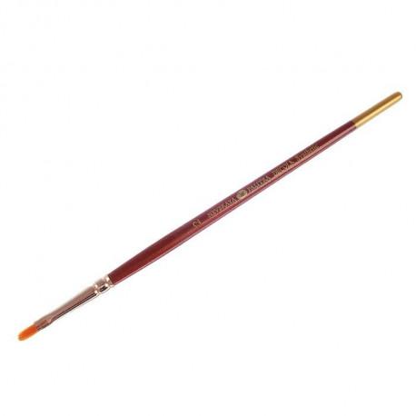 Кисть синтетика Декола овальная №2 (4мм) длина17,5см