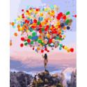 Разноцветные шары, картина по номерам на холсте 40х50см 29цв Original