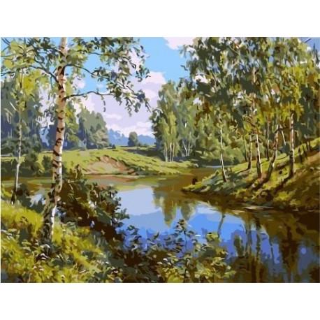 Лето (Прищепа Игорь), картина по номерам на холсте 40х50см 22цв Original