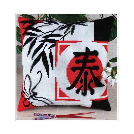 Цветение(подушка), набор для вышивания крестиком, 36х36см, 3цвета Panna