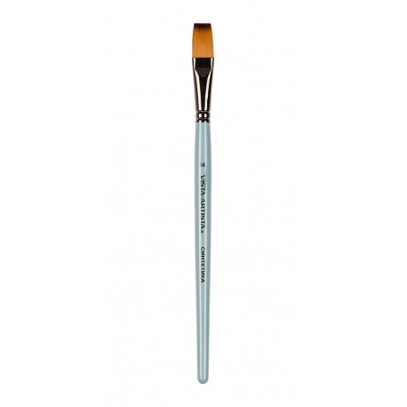 Плоская №14, кисть художественная синтетика ширина14мм длина22см VISTA-ARTISTA